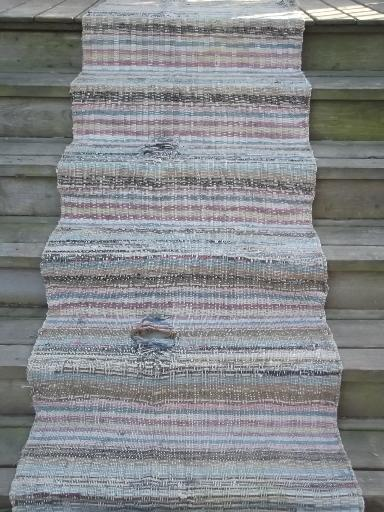 Old Cotton Farmhouse Kitchen Stairs Rug Long Stair Runner