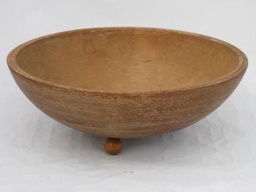 old farm primitive wood bowl, vintage kitchenware