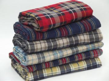 old flannel shirt tartan plaids cotton flannel fabric for quilting etc.