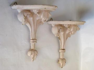 old florentine gold wall bracket shelves, shabby cottage chic chippy pink paint