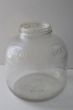 old glass Ball jar embossed Crisco, 1940s or 50s vintage advertising