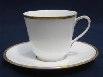 old gold wedding band china cup and saucer set, Royal Doulton Delacourt