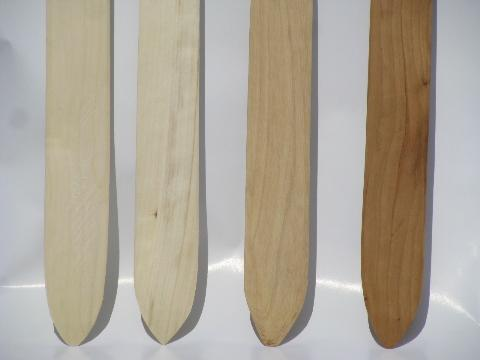 Old Handmade Wood Lefse Sticks From Wisconsin Farm Estate