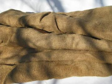 old hessian cloth gunny sacks, vintage burlap seed or feed grain bags lot