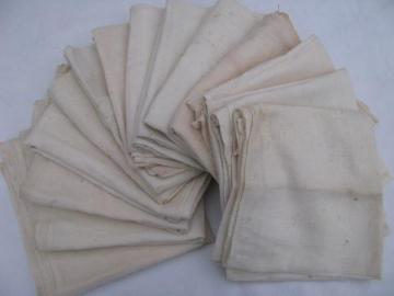 old kitchen dishtowels, genuine vintage cotton flour sack feedsack towels
