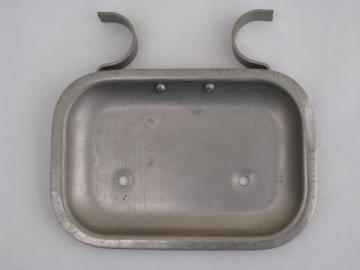 old nickel/chrome plates shower or lavatory soap dish