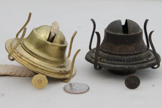 Old oil kerosene lamp parts burner lamp wick assemblies vintage old oil kerosene lamp parts burner lamp wick assemblies vintage oil lamp burners aloadofball Image collections