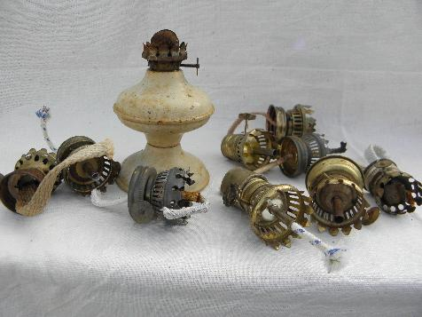 Old oil kerosene lamp parts burners wicks for vintage mini lamps aloadofball