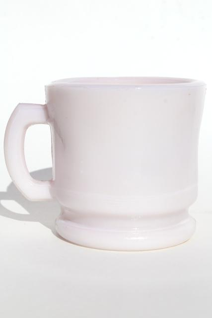 Old Pink Milk Glass Cup Victorian Vintage Antique Shaving
