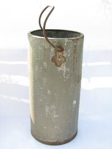 old primitive antique DeLaval cream can / bucket from farm dairy