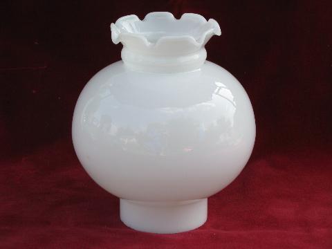old replacement lamp light shade transluscent white milk. Black Bedroom Furniture Sets. Home Design Ideas