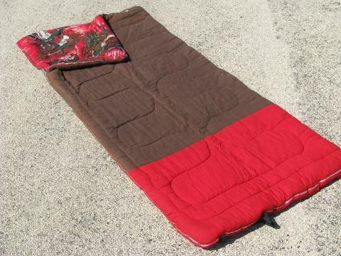 buy popular 18b34 82adc old unused Hot Foot camping sleeping bag, vintage cotton ...