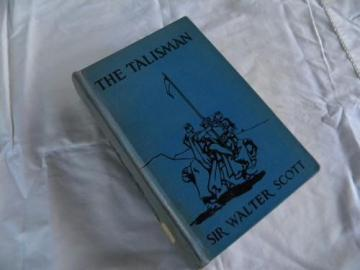 old vintage The Talisman/Walter Scott w/color litho plates and art binding