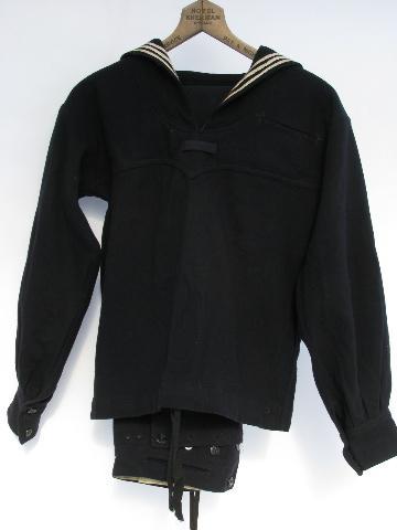 Old Vintage Us Navy Dress Blues Wool Sailor S Uniform W