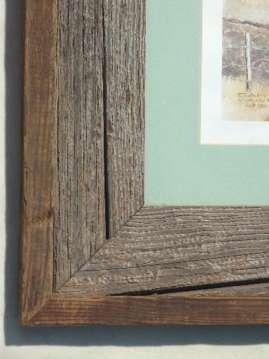 old weathered barn wood frame large rustic board poster picture frame - Wood Poster Frames