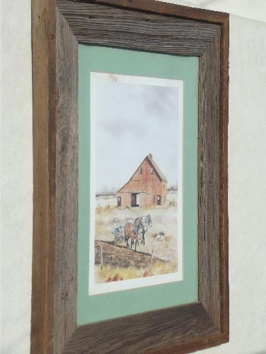 old weathered barn wood frame large rustic board poster picture frame