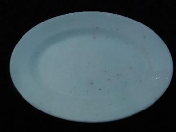 old white ironstone china platter, england