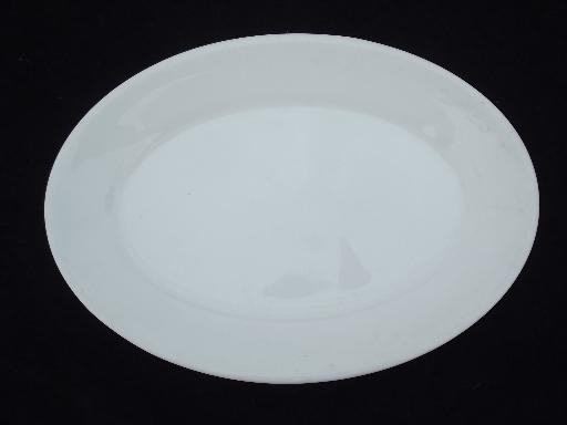 old white ironstone china platters lot, antique and vintage American pottery