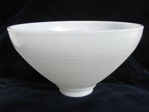 Old White Milk Glass Torchiere Reflector Light Diffuser