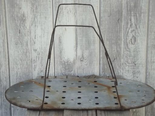 Old Wire Handle Metal Rack To Hold Canning Jars In Vintage