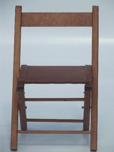 Old Wooden Folding Chair Little Child S Size Camp Seat