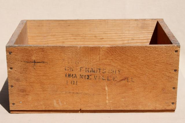 Old Wooden Fruit Crate Vintage Wood Packing Shipping Box