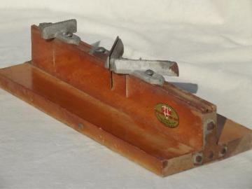 old woodworking tool for building picture frames, folding miter box