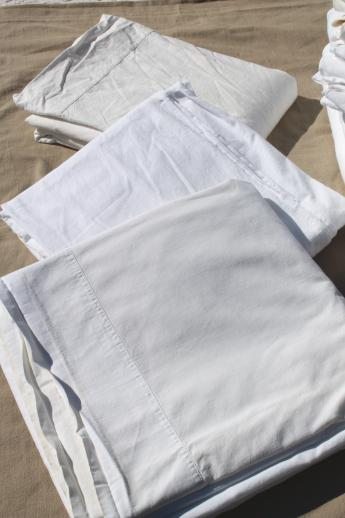 Old Fashioned Plain White Cotton Flat Bed Sheets Amp Flannel