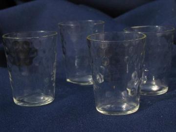 optic pattern depression glass, vintage set shot glasses or cordials
