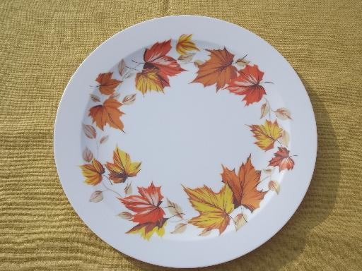 : autumn leaf dinnerware - Pezcame.Com