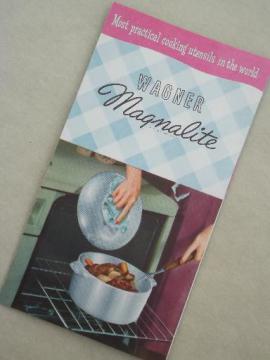 original vintage leaflet for WagnerWare Magnalite aluminum pots & pans