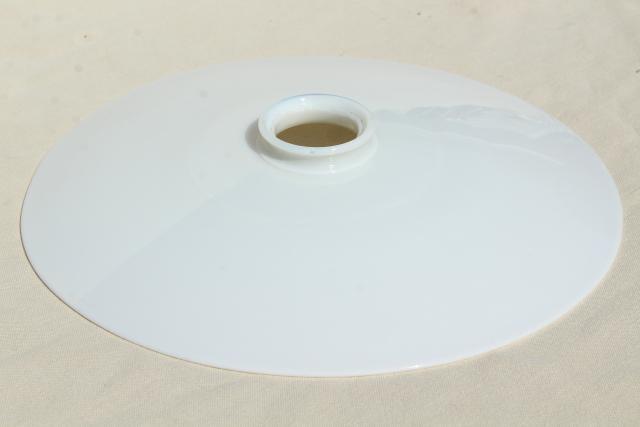 antique industrial pendant lights white. Original Vintage Opalescent White Glass Reflector, Flat Shade For Antique Industrial Pendant Light Lights R