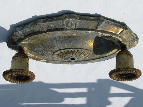 Ornate Antique Spelter Cast Metal