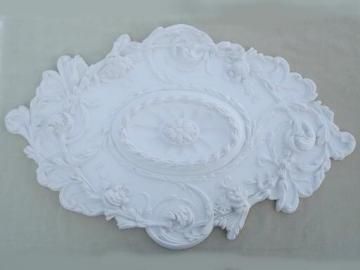 ornate architectural molding ceiling medallion, ceiling rose in faux plaster
