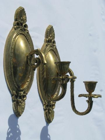 Ornate Brass Wall Lights : ornate wall sconces, solid brass candle sconce pair
