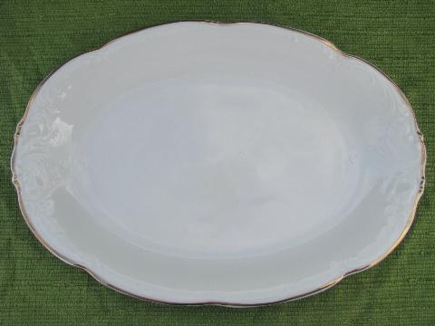 Ornate White W Gold Casa Oro Polish China Dinnerware & Scroll Dinnerware - Castrophotos
