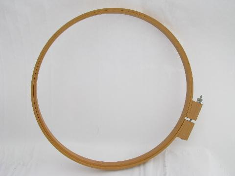 oval & round wood needlework / rug hooking / quilt hoops, lap ...