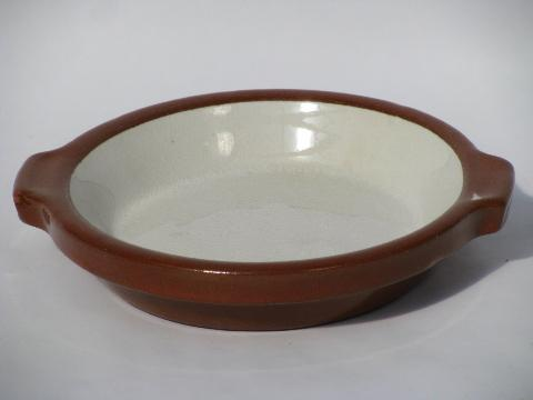 oven safe stoneware pottery individual gratins or ramekins