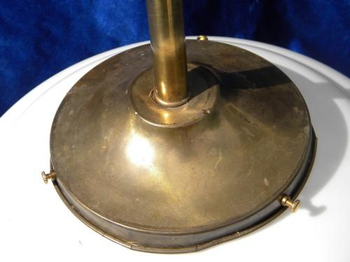 Pair Antique Industrial Vintage Lighting, Brass Pendant