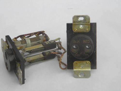 pair large bakelite industrial sockets, steampunk vintage