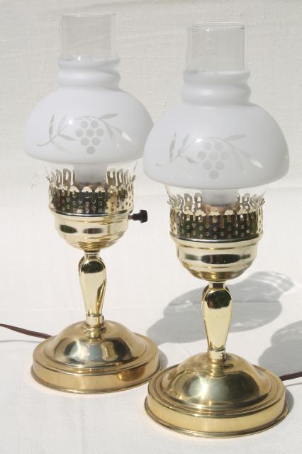 pair of vintage convertible table lamps changes to pin up lamp wall