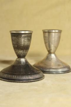 pair of vintage sterling silver candlesticks, Duchin creations weighted candle holders