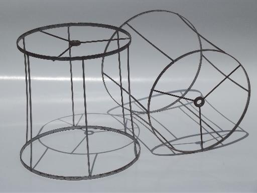 8e0ce6bfc735 pair vintage lampshade frames