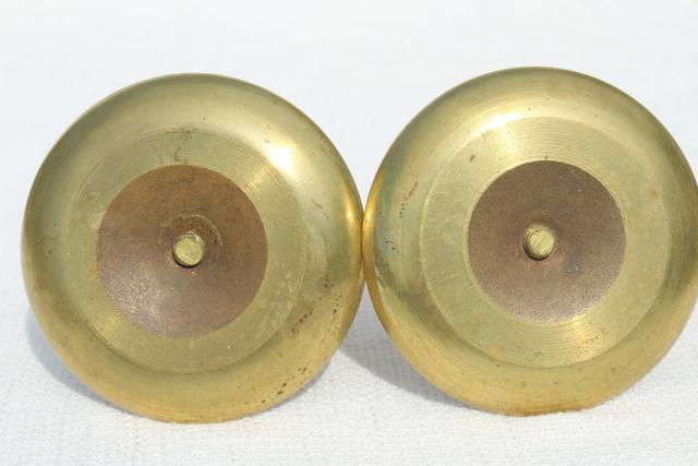 pair vintage solid brass candle holders, adjustable push up candlesticks