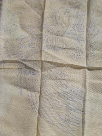 Vintage stamped needlework quilts