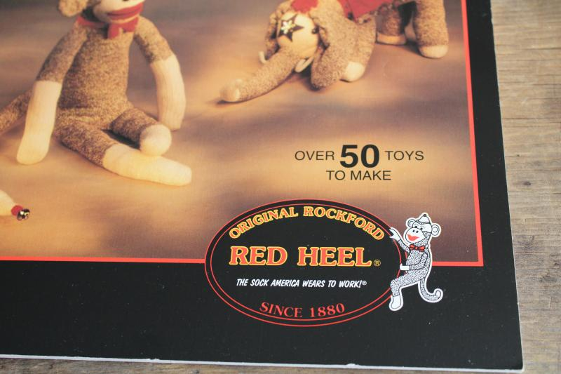 patterns & instructions for Rockford Red Heel Sock monkeys, sewing toys & dolls from socks