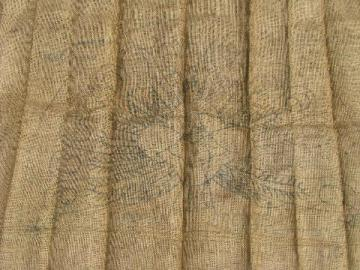 peacock vintage hessian burlap hooked rug canvas to hook w/ yarn or wool