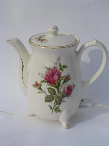Pink Moss Rose Pattern Vintage Japan Self Heating