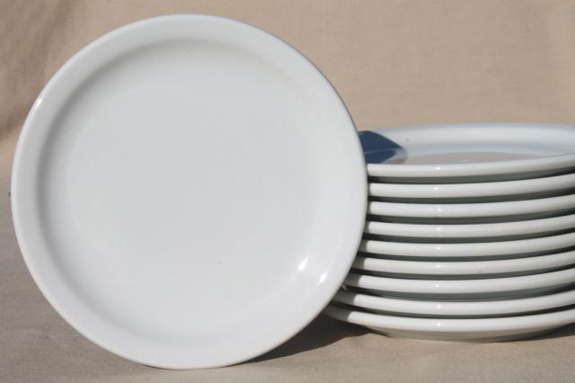 plain u0026 simple vintage white ironstone china dishes euro style all purpose plates : plain white dinnerware - pezcame.com