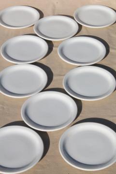 plain & simple vintage white ironstone china dishes, euro style all purpose plates